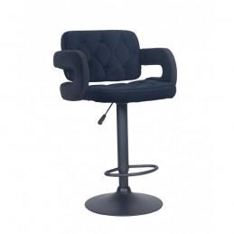 Barová stolička Melisa Mat Velur Black