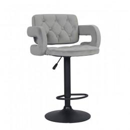 Barová stolička Melisa Mat Velur Silver