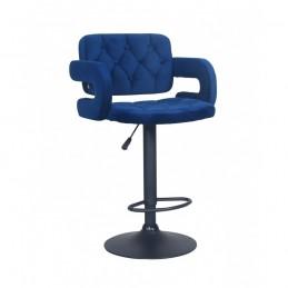 Barová stolička Melisa Mat Velur Čierne more
