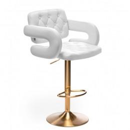 Barová stolička Melisa Gold White