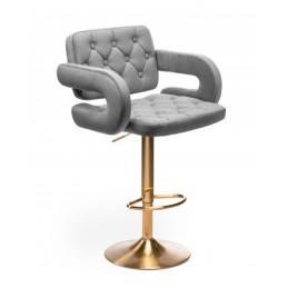 Barová stolička Melisa Gold Velur Silver