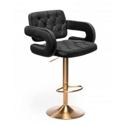 Barová stolička Melisa Gold Velur Black
