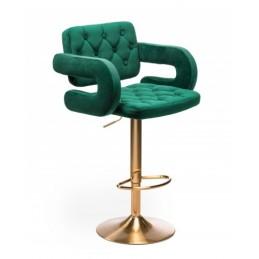 Barová stolička Melisa Gold Velur Green