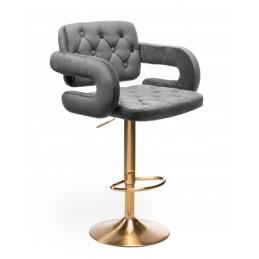 Barová stolička Melisa Gold Velur Grafit