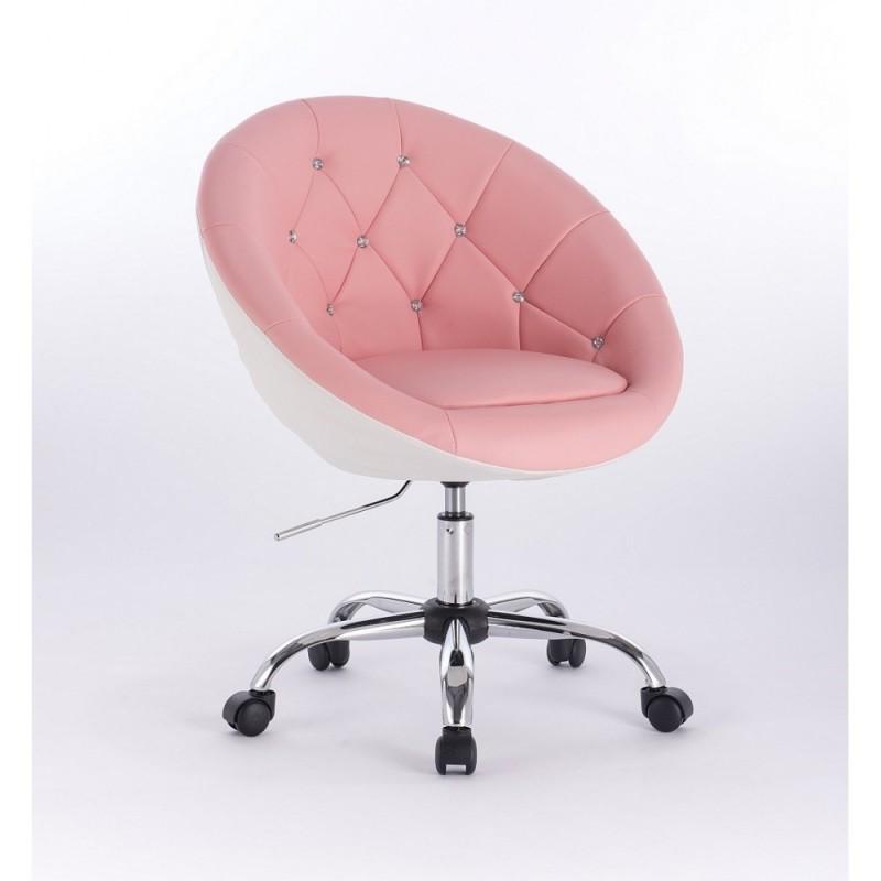 Kreslo Elegance Pink-White Krystal