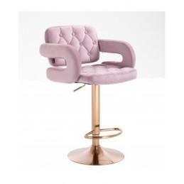 Barová stolička Melisa Gold Velur Pink