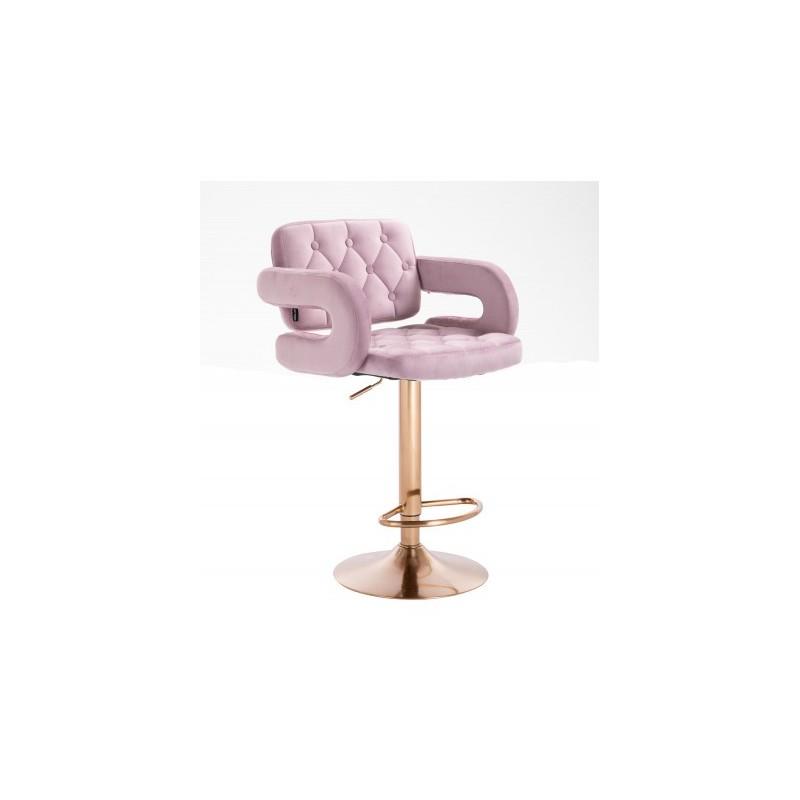 Barová stolička Melisa Gold Velur lila Kategórie