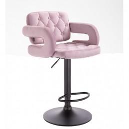 Barová stolička Melisa Mat Velur Pink