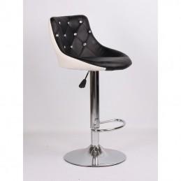 Kozmetická stolička Elegance Black-White Kozmetické stoličky