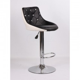 Kozmetická stolička Elegance Black-White