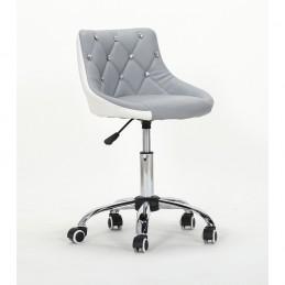 Kozmetická stolička Elegance Silver-White Kozmetické stoličky