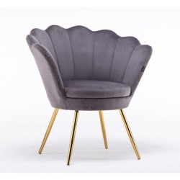Kreslo Serena Velur Dark Silver Stoličky, lavičky do čakárne