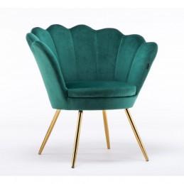Kreslo Serena Velur Green Stoličky, lavičky do čakárne