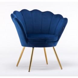 Kreslo Serena Velur Tmavé more Stoličky, lavičky do čakárne