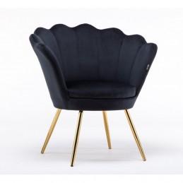 Kreslo Serena Velur Black Stoličky, lavičky do čakárne