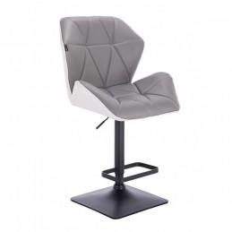 Barová stolička Altera Silver and White