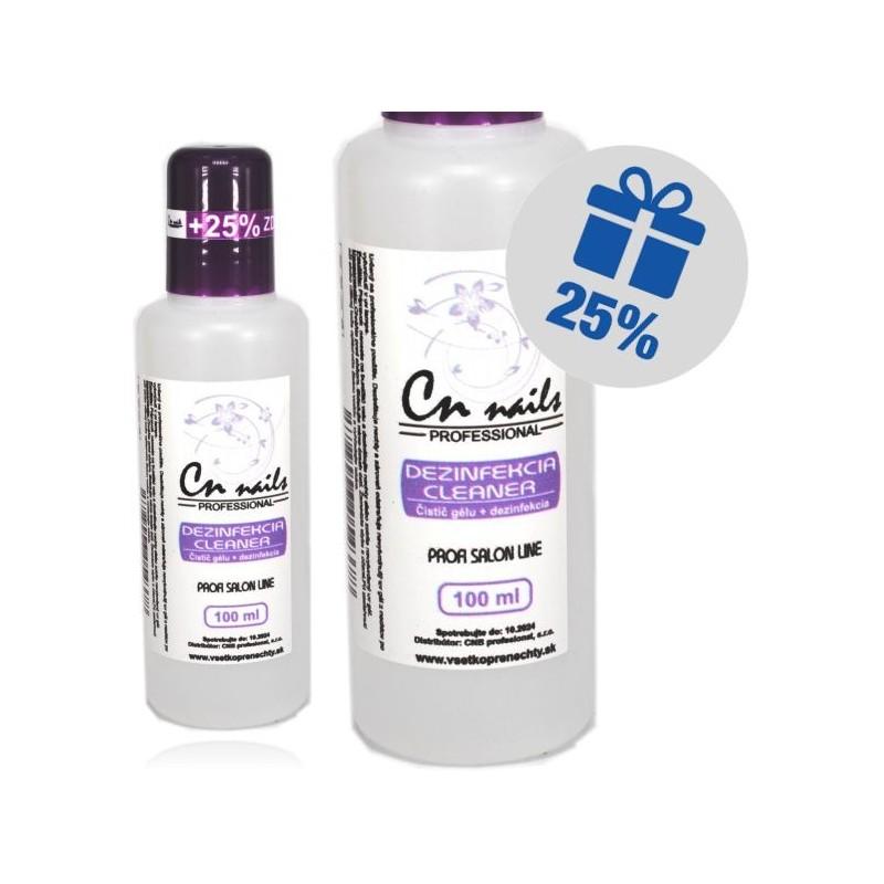 Dezinfekcia, čistič gélu 100ml + 25% zdarma CN nails Dezinfekcie, čističe, odstraňovače