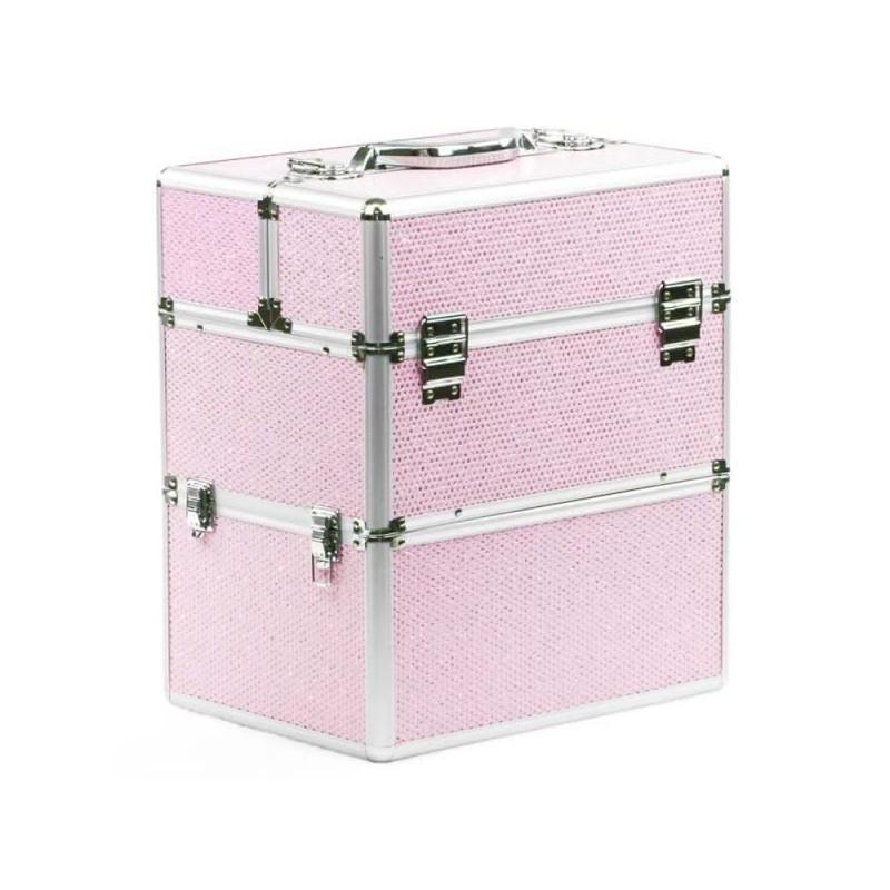 Kozmetický kufrík Glamour Big Pink