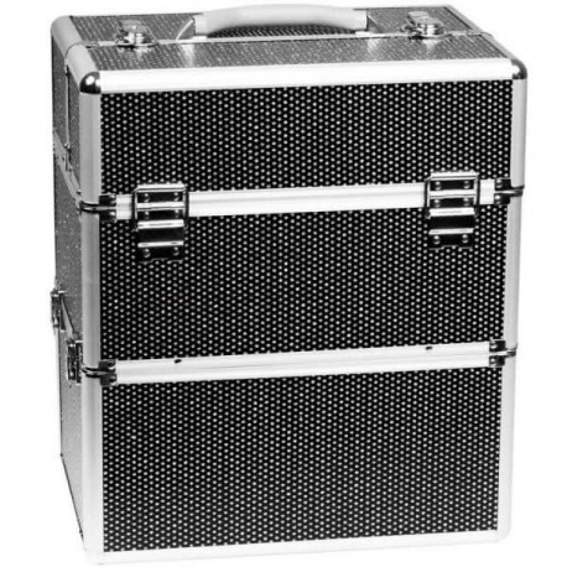 Kozmetický kufrík Glamour Big Black