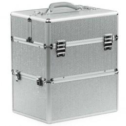 Kozmetický kufrík Glamour Big Silver