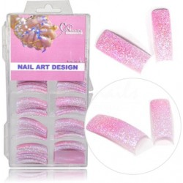 Farebné tipy - tmavo ružové glitrové Farebné tipy