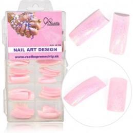 Farebné tipy - ružové glitrové Farebné tipy