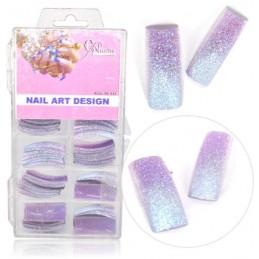 Farebné tipy - fialové glitrové Farebné tipy