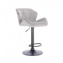 Barová stolička Detail Velur Silver Mat
