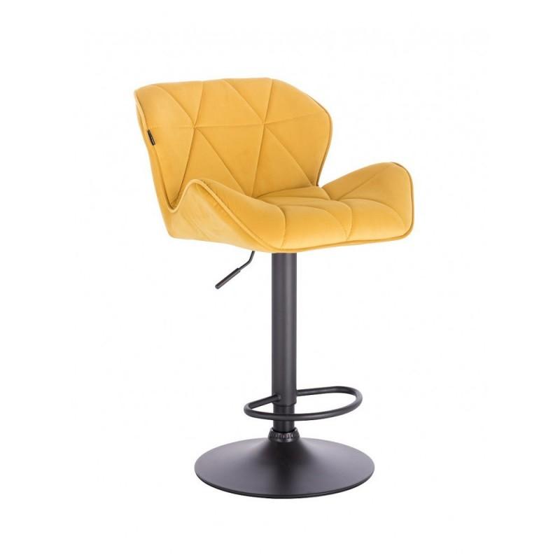 Barová stolička Detail Velur Yellow Mat Kategórie