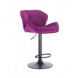Barová stolička Detail Velur Fuksia Mat