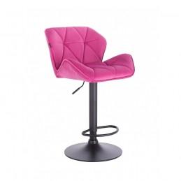 Barová stolička Detail Velur Malina Mat