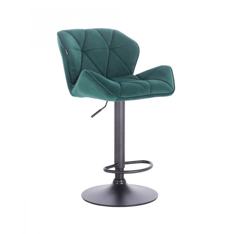 Barová stolička Detail Velur Green Mat