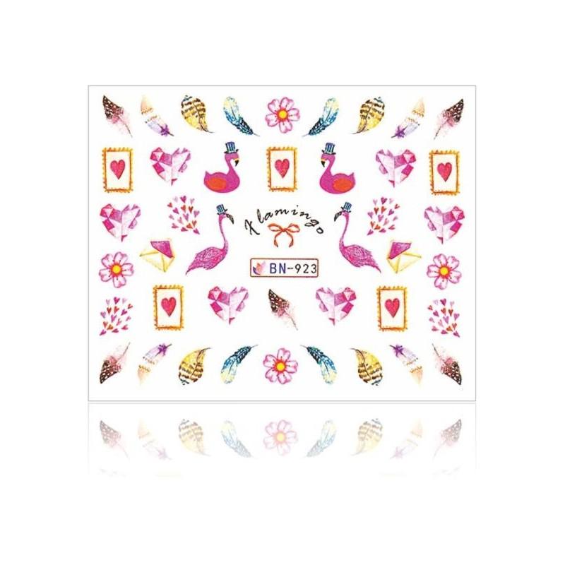 Vodolepky na nechty Flamingo Nálepky Summer