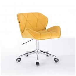 Kozmetická stolička Detail Velur Žlta