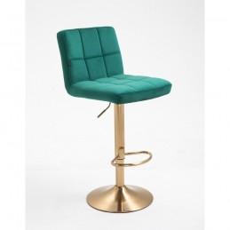 Barová stolička Agáta Gold Green Barové stoličky