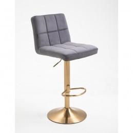 Barová stolička Agáta Gold Grafit Barové stoličky