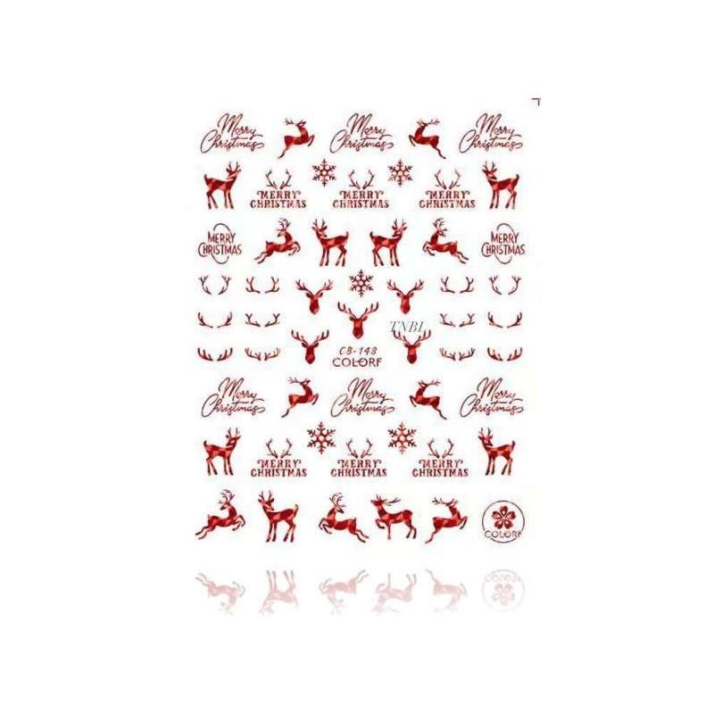 Nálepky na nechty Merry Christmas Kategórie
