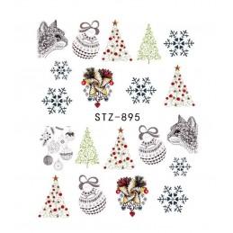 STZ 895 Vianočné nálepky Esmara