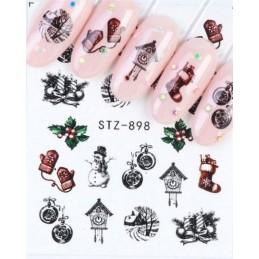 STZ 898 Vianočné nálepky Esmara Zimné ozdoby