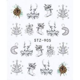 STZ 905 Vianočné nálepky Esmara Zimné ozdoby