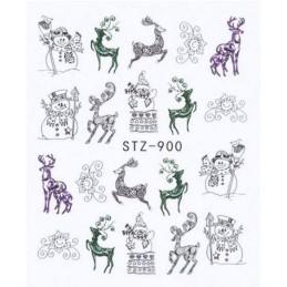 STZ 900 Vianočné nálepky Esmara Zimné ozdoby