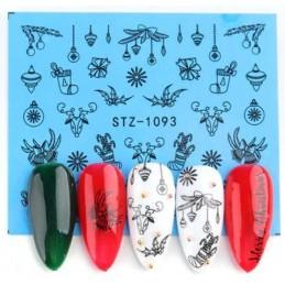 STZ 1093 Vianočné nálepky Esmara Zimné ozdoby