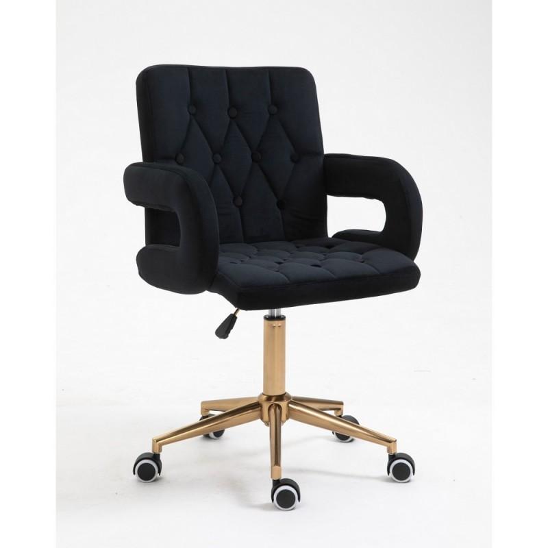 Kozmetická stolička Melisa velur Black