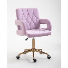 Kozmetická stolička Melisa velur Orchidea Kozmetické stoličky