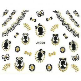 NR.JH009 Glamour nálepky na nechty Kategórie