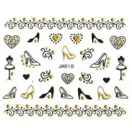 NR. JH010 Glamour nálepky na nechty Kategórie