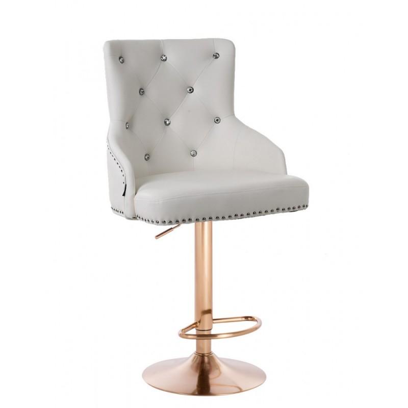 Barová stolička Marina Gold Crystal White