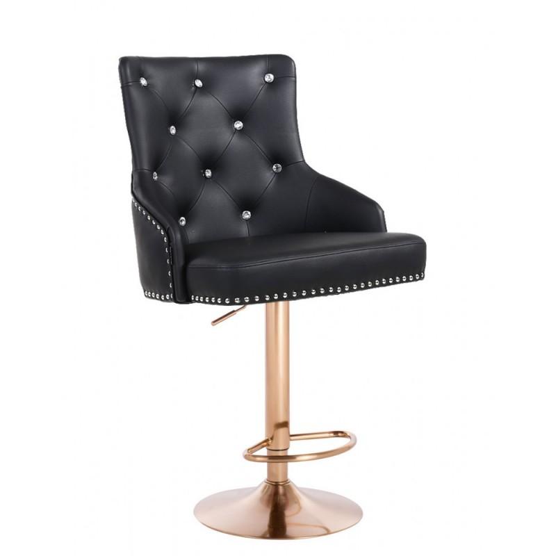 Barová stolička Marina Gold Crystal Black