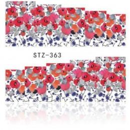 STZ 363 Flowers design Vodové nálepky - Flowers