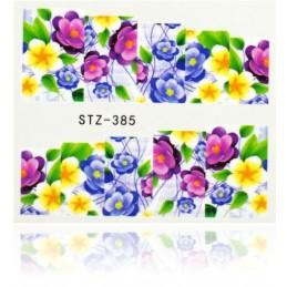 STZ 385 Flowers design Vodové nálepky - Flowers